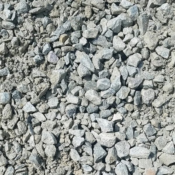 "1-1/4"" Blue/Gray Crushed Granite with Binder (road base coarse)"