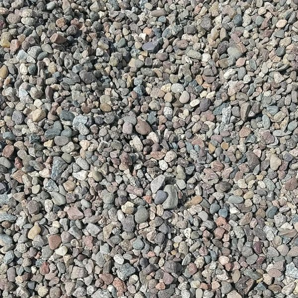 "Pea Gravel - Washed 3/8"" Natural River Rock"