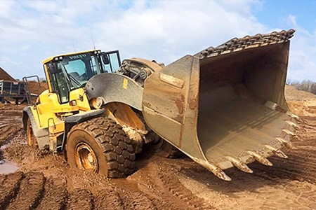 Opelt Sand and Gravel excavating loader